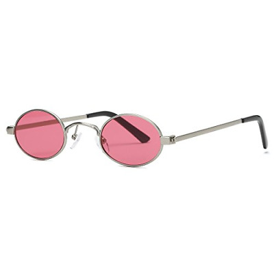 04085bf97a8 Kimorn Sunglasses Small Round Metal Frame Oval Candy Colors Unisex Sun  Glasses