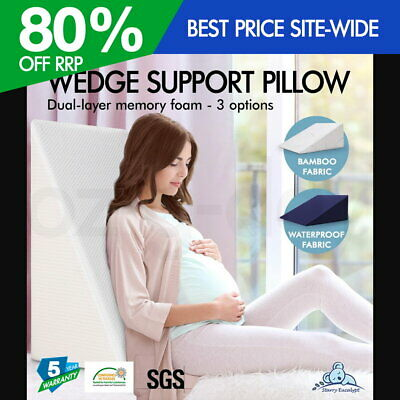 Starry Eucalypt Memory Foam Wedge Pillow Cushion Back Support Bamboo Waterproof