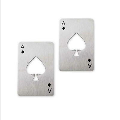 Funny Metal Poker Playing Cards Throwing Toy Creative Bottle Sofa Beer Opener