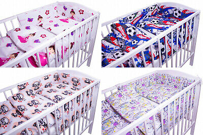 BABY BEDDING SET 2 3 5 6 PCS QUILT DUVET PILLOW CASE COVER TO FIT 120x60 COT