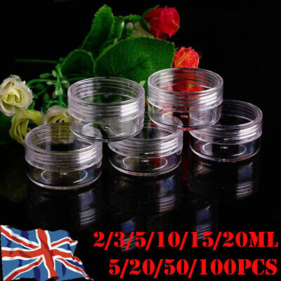 2-20g Sample Bottle Cosmetic Makeup Jar Pot Face Cream Clear Lip Balm Container