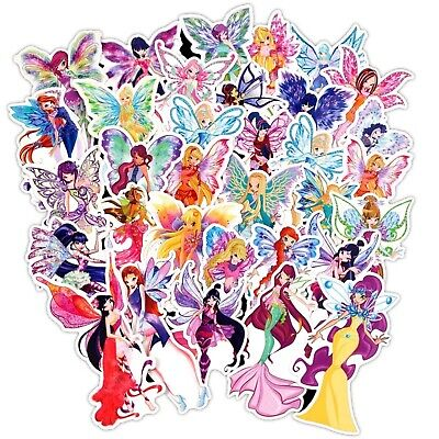 10 20 pcs Girls Fairy Stickers Kids Fairies Loot Bag Party Diary School Reward