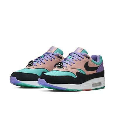 Nike Mens Air Max 1 ND Have A Nike Day Purple Black Coral Sneakers BQ8929-500