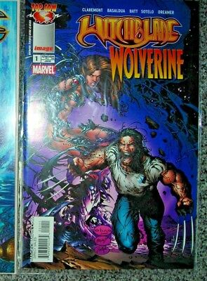 Witchblade Wolverine 1 JUNE 2004 IMAGE COMICS NM Basaldua Cover Claremont More