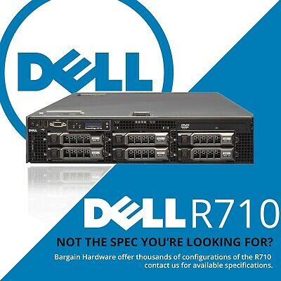 Dell R710 6x LFF Storage Server 2U PowerEdge 2x Hex 6-Core Xeon PERC H700 RAID