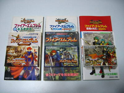 GBA Fire Emblem The Binding Blade The Sword of Flame The Sacred Stones Game Book