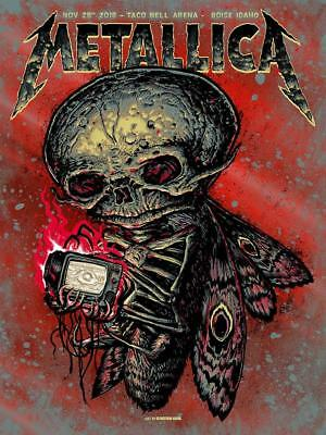 Metallica Boise, ID RED FOIL Gig Poster by Munk One  MINT Condition AE of 30!