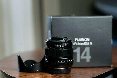 FUJI XF 14MM f2 8 Fujinon Lens With Hood End Caps And Boxed