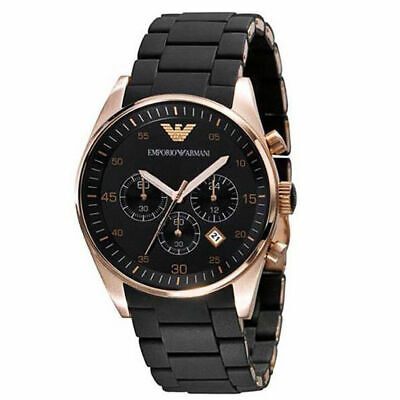 New Emporio Armani AR5905 Rose Gold Men's Chronograph Watch
