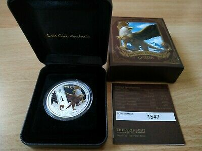 SUPERBE TUVALU PERTH MINT GRIFFIN GRIFFON 1oz 1 once Silver Proof Coin 2013