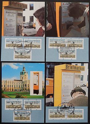 Automatenbriefmarken Deutschland Berlin Atm Mk 1987 11 Werte 4 Maximumkarten Carte Maximum Card Mc Cm A9257
