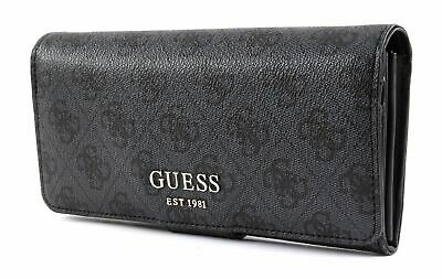 4163b78eed GUESS BOURSE LOGO Luxe SLG File Embrayage Coal - EUR 45,00 | PicClick FR