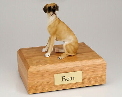 Great Dane, Fawn, Ears Down Pet Cremation Urn Avail. in 3 Diff. Colors & 4 Sizes