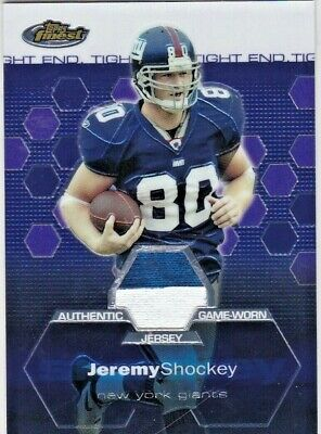 5ca157ab8 Jeremy Shockey New York Giants 2003 Topps Finest Relics Game-Used Jersey  Patch