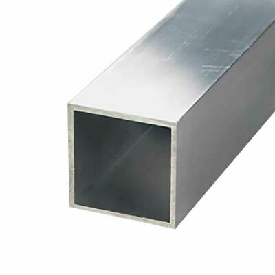 "6063-T52 Aluminum Square Tube, 1-1/4"" x 1-1/4"" x 1/16"" Wall x 48"" long (3 Pack)"