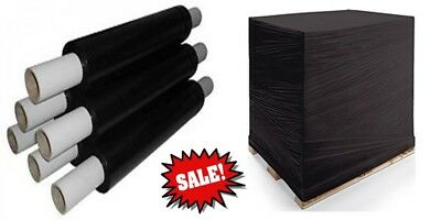 Stretch Cling Film Extended core & Standard 400mm Pallet Shrink Wrap Black