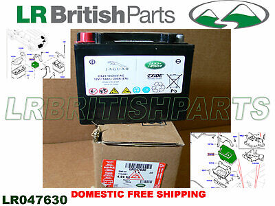 Genuine Land Rover Battery Lr4 Evoque Range Rover 13 Sport 14 Lr047630 New
