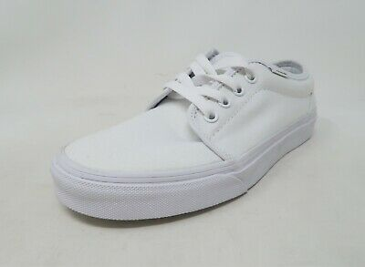 ab61112cd4 Vans Youth Unisex Shoes Big Kids 106 Vulcanized True White Sneakers  2750