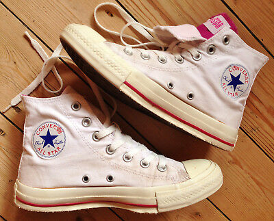 ORIG. CONVERSE CHUCKS All Star high Sport Freizeit EUR 37,5 UK 5 weiß