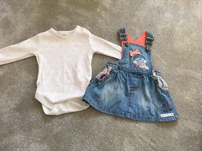 Baby & Toddler Clothing Honest Tu Baby Girl 0-3 Months Denim Pinafore Dress Excellent Condition Clothing, Shoes & Accessories