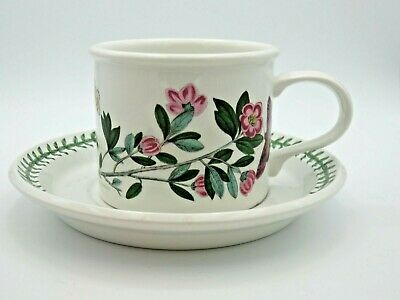 Portmeirion Botanic Garden Large Breakfast Cup & Saucer Rhododendron Old Stamp