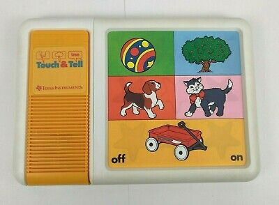 Vintage 1981 TI Texas Instruments TOUCH & TELL Talking Electronic Toy Number Fun