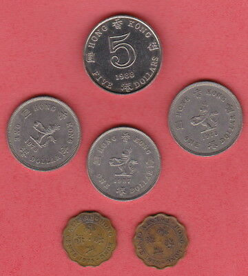 Hong Kong  - Bulk MIXED CURRENT Set of coins for travellers or Collectors -H/VAL