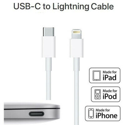 USB-C Type-C to Lightning PD Fast Charging QC Charger Cable Cord Fits iPhone Mac