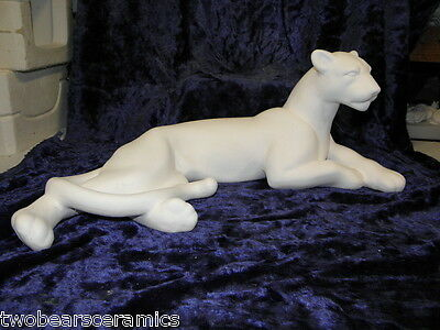 Ceramic Ready to Paint Lying Cougar/Panther