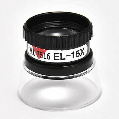 Mini 15X Monocular Magnifying Glass Loupe Lens Map Magnifier Jewelry Repair Tool