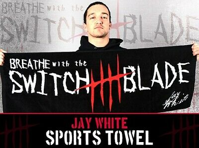 NJPW JAY WHITE BREATHE with the SWITCH BLADE SPORTS TOWEL new Zealand  Wrestler