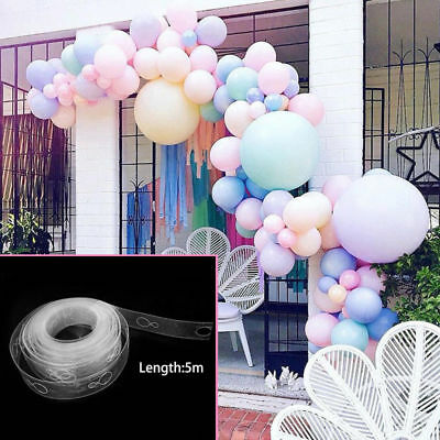 5m Balloon Chain Tape Arch Connect Strip for Wedding Birthday Party Decoration ~