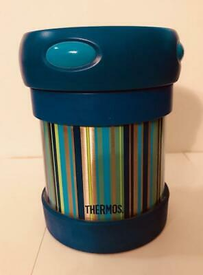 Vintage Thermos 10 Oz Funtainer Insulated Stainless Steel Food Jar Kids!!