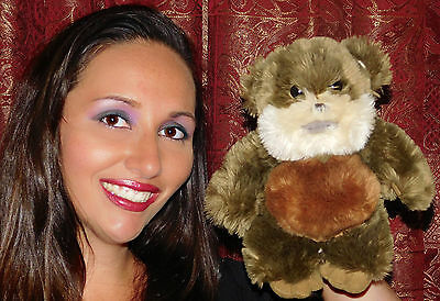 "Disney Parks Star Wars 2000 Wicket W. Warrick Ewok 9"" Plush STUFFED TOY MOVIE"