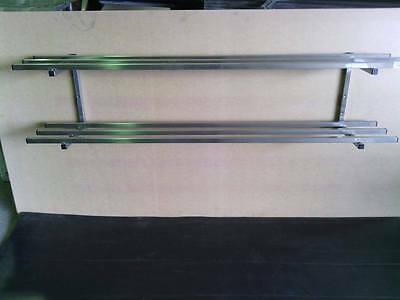 NEW STAINLESS STEEL GRADE 304 COMMERCIAL TWIN TUBE SHELF/POT RACK (1800x300mm)