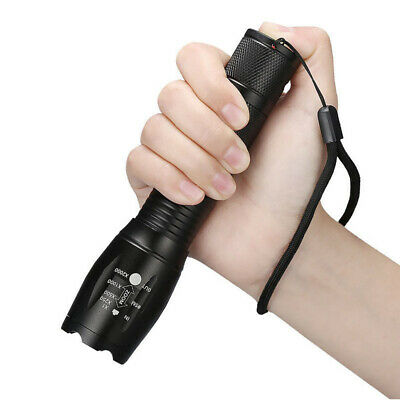 T6 Tactical Military LED Flashlight 18650 Torch Zoomable 5 Mode AAA Tourch