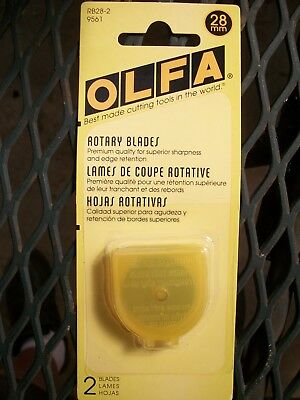 OLFA 28mm Rotary Cutter Blades 2 Pack New