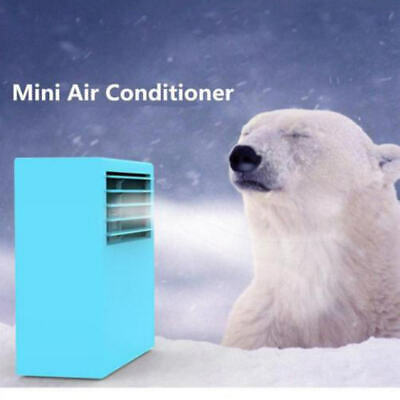 Summer Portable Desktop Small Mini Air Conditioner Fan Cooler Home Room Office