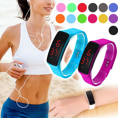 Fashion Hot Men/Women Sport LED Waterproof Rubber Bracelet Digital Wrist Watch