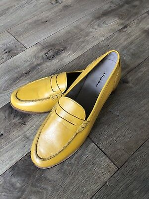 38e07b2010d New JCrew Ryan penny loafers Leather shoes 11 Smoky Mustard Yellow H8200