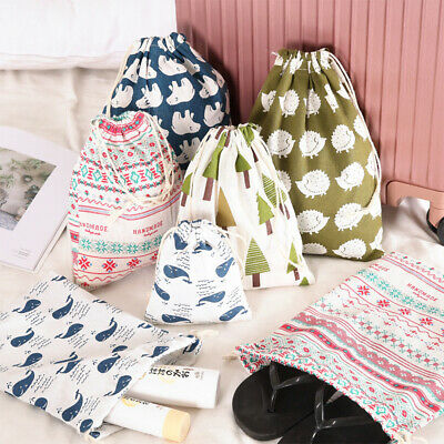 Cuute Cotton & Linen Drawstring Storage Bag Students Small Underwear Storage Bag