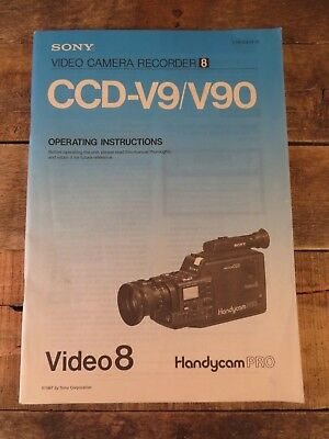Sony Video 8 Handycam Pro CCD-V9 /V90 Instruction Manual