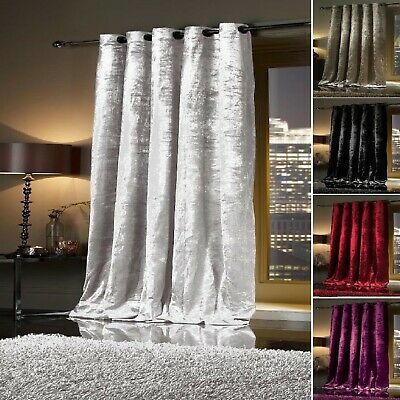 Thermal Self Lined Crush VELVET Winter Door Curtain