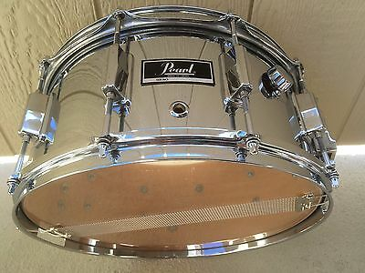 Vintage 79 Pearl 6.5X14 Maple Snare Drum, Factory Chrome Finish,10 Lug Beauty !