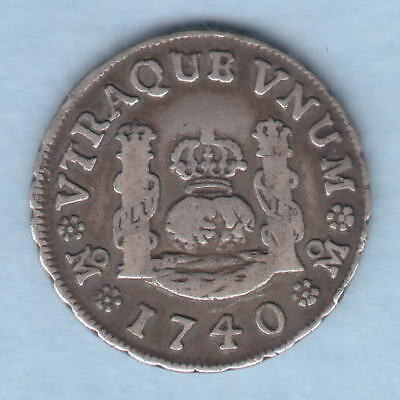 Mexico. 1740-MF 1 Real..  aVF