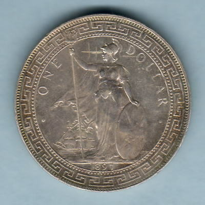Great Britain. 1897-B Trade Dollar.. gVF/EF - Part Lustre