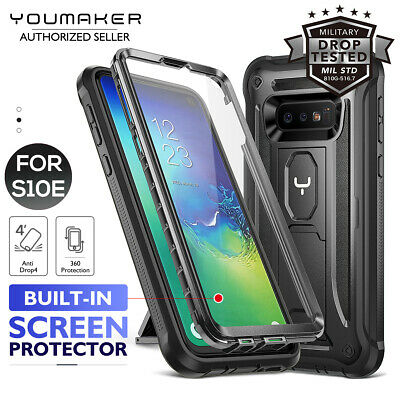 YOUMAKER® Samsung Galaxy S10E HEAVY DUTY Shockproof KickStand Case Cover