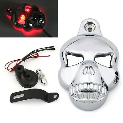 Skull Lighted Eye Horn Cover For Softail Dyna Glide Big Twin Electra C/A5