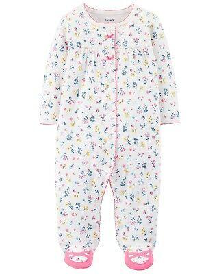 New Carter's Girl Sleep n Play Tiny Floral Print & Footed Pre NB 3m 6m NWT Girls