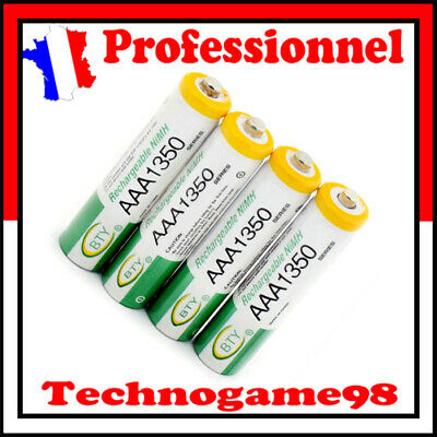4 PILE ACCU BATTERIE RECHARGEABLE AAA LR03 1350mAh 1.2V NI-MH NIMH LR3 R03 R3